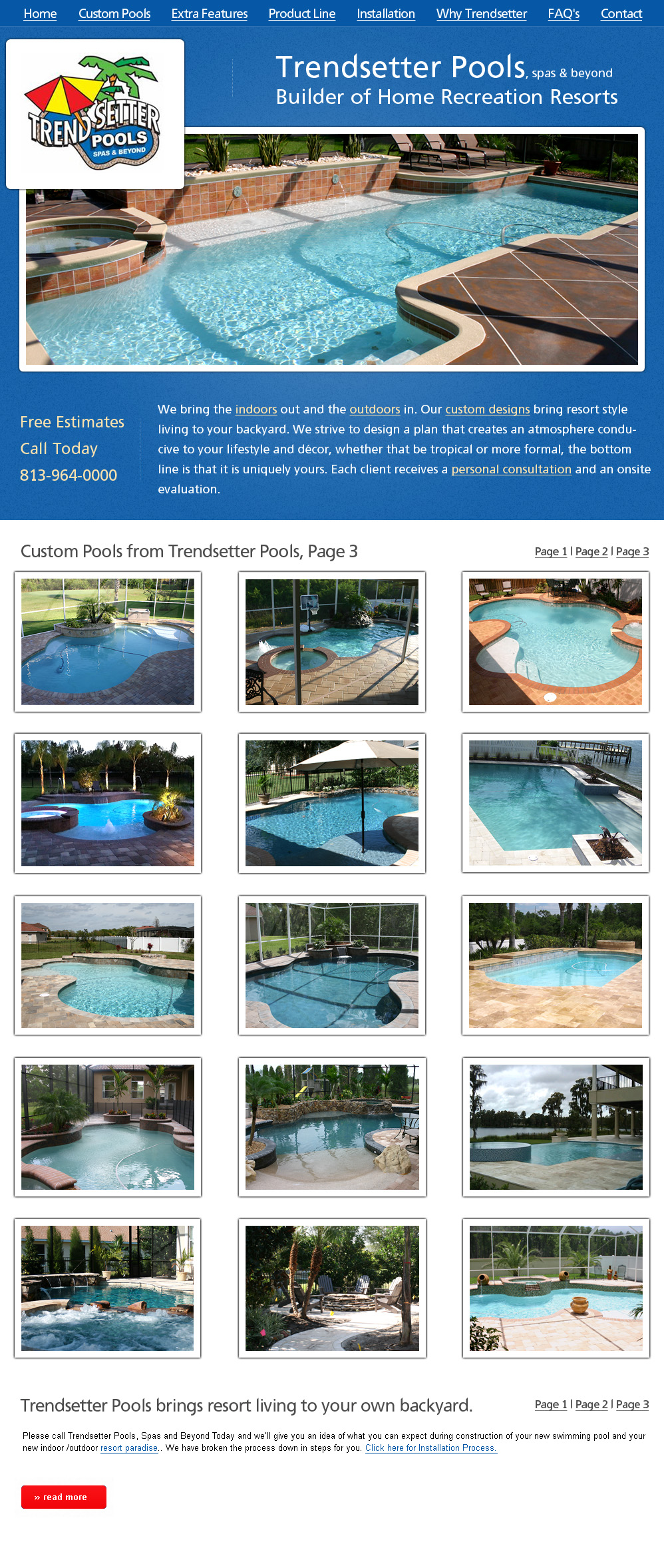 Pools And Custom Spas At Trendsetter Tampa Florida Call Today 813 964 0000